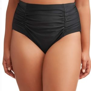 NWT Terra & Sky high waist ruched swim bottoms